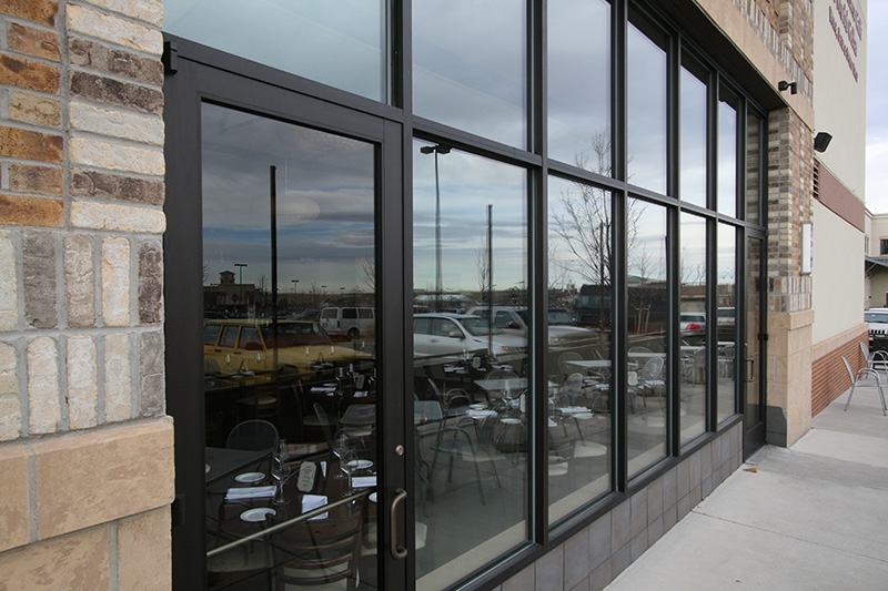 Denver storefront glass window replacement glass curtain for Commercial windows